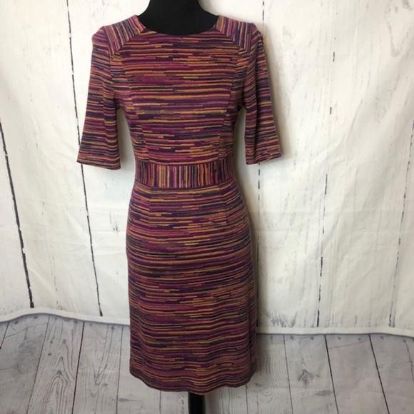 Trina Turk Dresses & Skirts - Trina Turk Dress Size 4  Purple Orange Stripe
